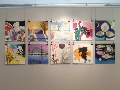 Продолжает свою работу персональная выставка художницы Елены Кораблевой «Задумано и сделано!»